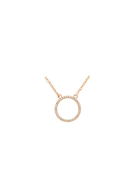 Melissa Odabash Rose crystal circle necklace