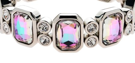 Monet Vitrail Crystal Stretch Bracelet