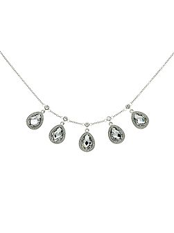 Crystal Teardrop Multi Necklace