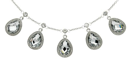 Monet Crystal Teardrop Multi Necklace