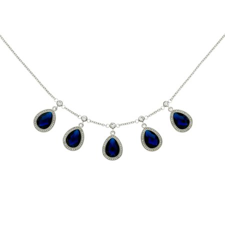 Monet Montana Teardrop Multi Necklace