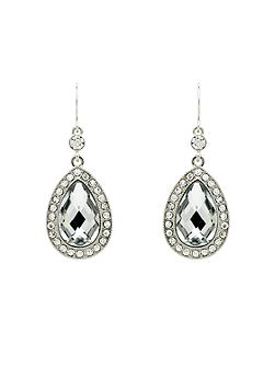 Crystal Teardrop Hook Earrings