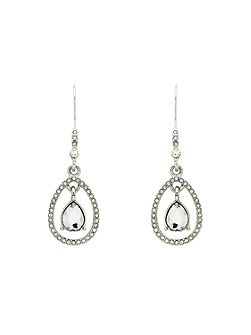 Crystal Teardrop Open Earrings