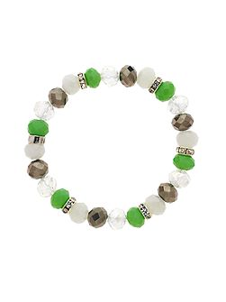 Monet Crystal Bead Chrysolite Bracelet