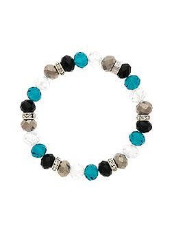 Monet Crystal Bead Zircon Bracelet