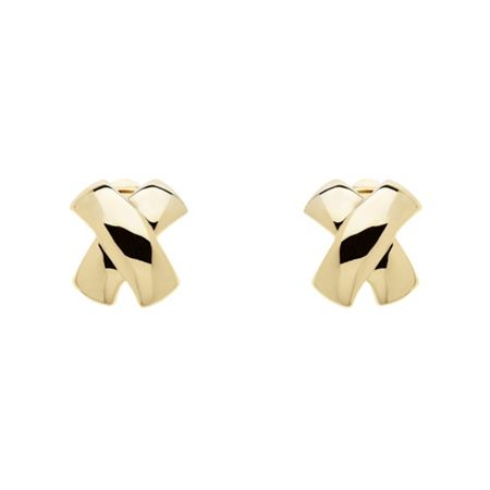 Monet Gold Criss Cross Clip Earrings