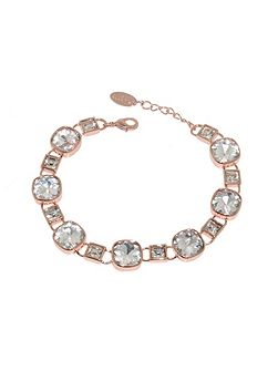Rose Gold & Cushion Crystal Bracelet