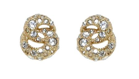 Lilli & Koe Gold Crystal Knot Earrings