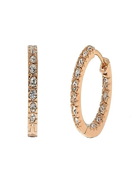 Lilli & Koe Rose Gold Mini Hoop Earrings