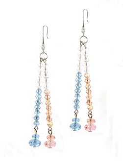 Rose Sapphire AB Crystal Earrings