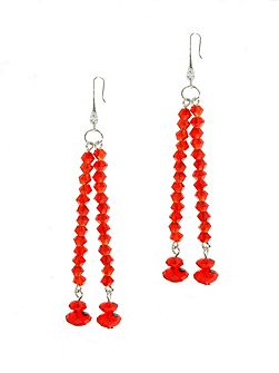 Siam Crystal Drop Earrings