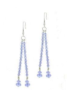 1928 Light Sapphire Crystal Earrings