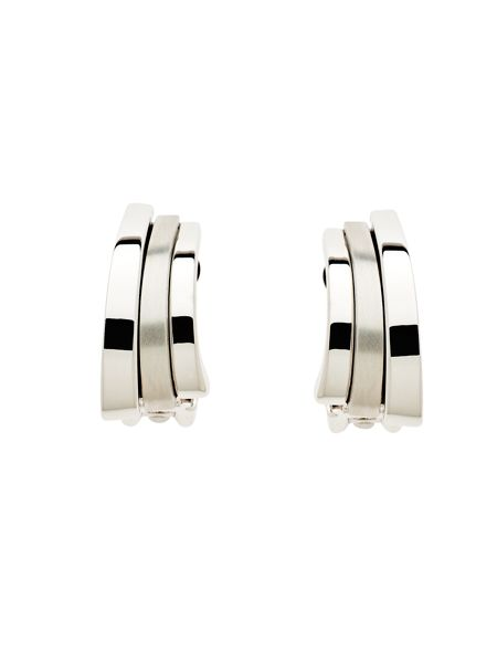 Lilli & Koe Rhodium arc clip earrings