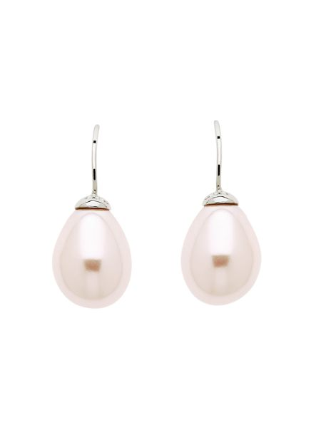 Lilli & Koe Pink teardrop pearl earrings