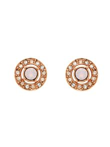 Melissa Odabash Rose Gold Opal Crystal Stud Earrings