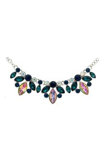 Monet Peacock Navette Crystal Collar