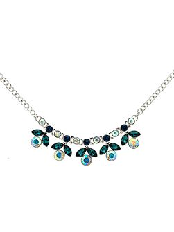 Peacock Crystal Flower Necklace