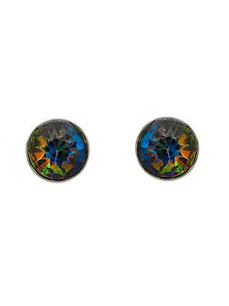 Peacock Crystal Stud Earrings