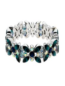 Monet Peacock Crystal Stretch Bracelet