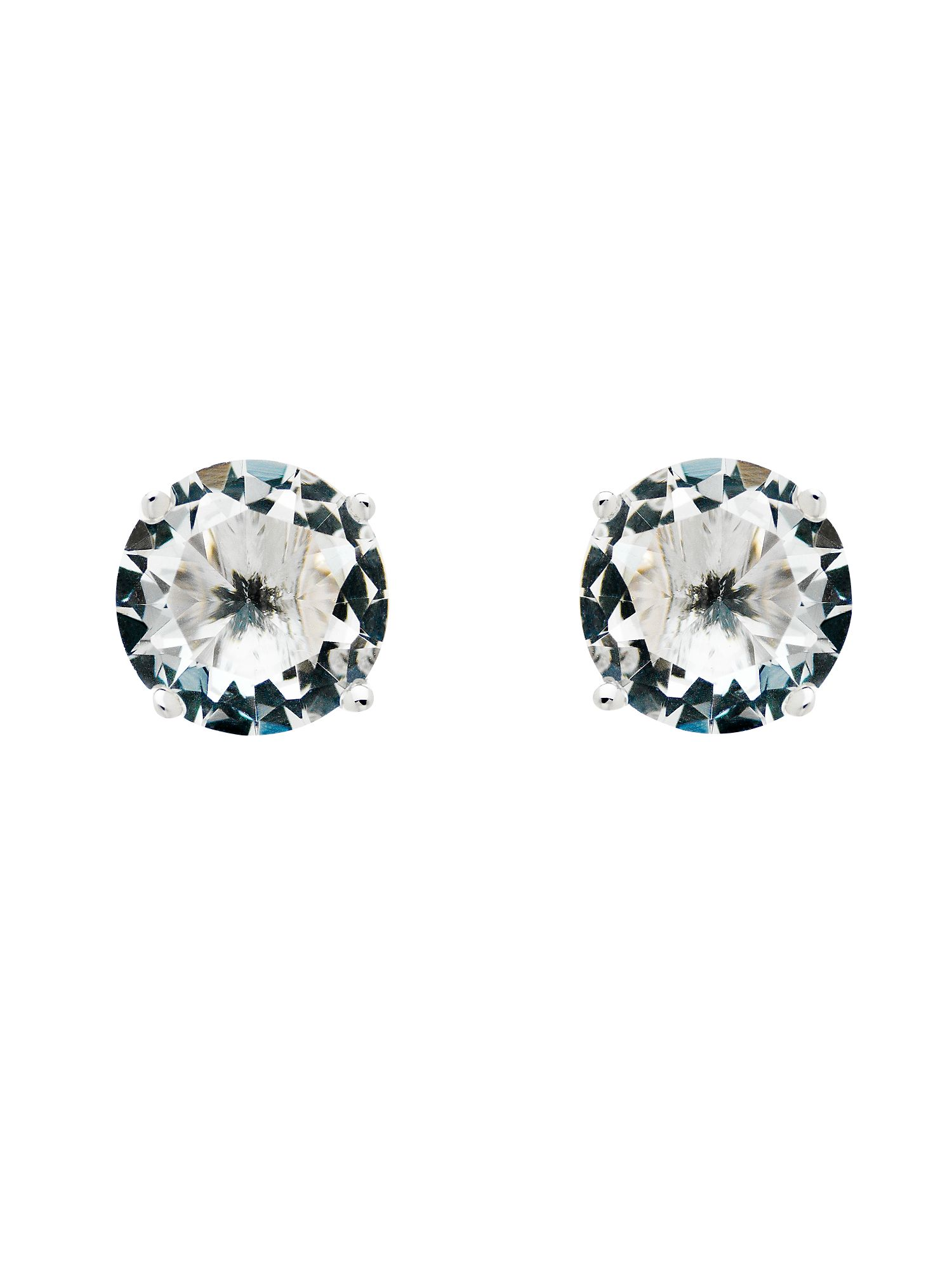 monet rhodium white cz stud earrings