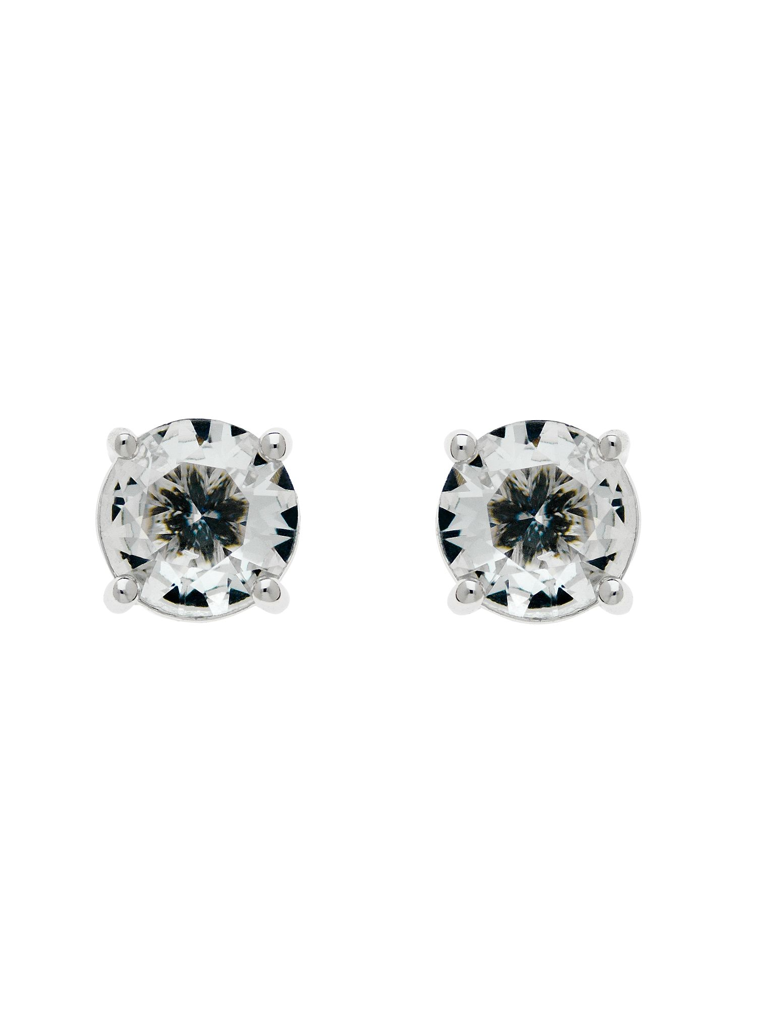 monet rhodium white cz mini stud earrings