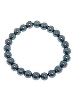 8mm Petrol Pearl Stretch Bracelet
