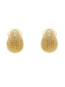 Monet Gold texture mini clip earrings