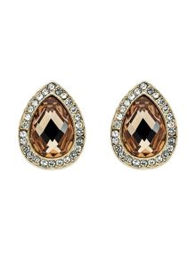 Monet Gold Champagne Teardrop Earrings