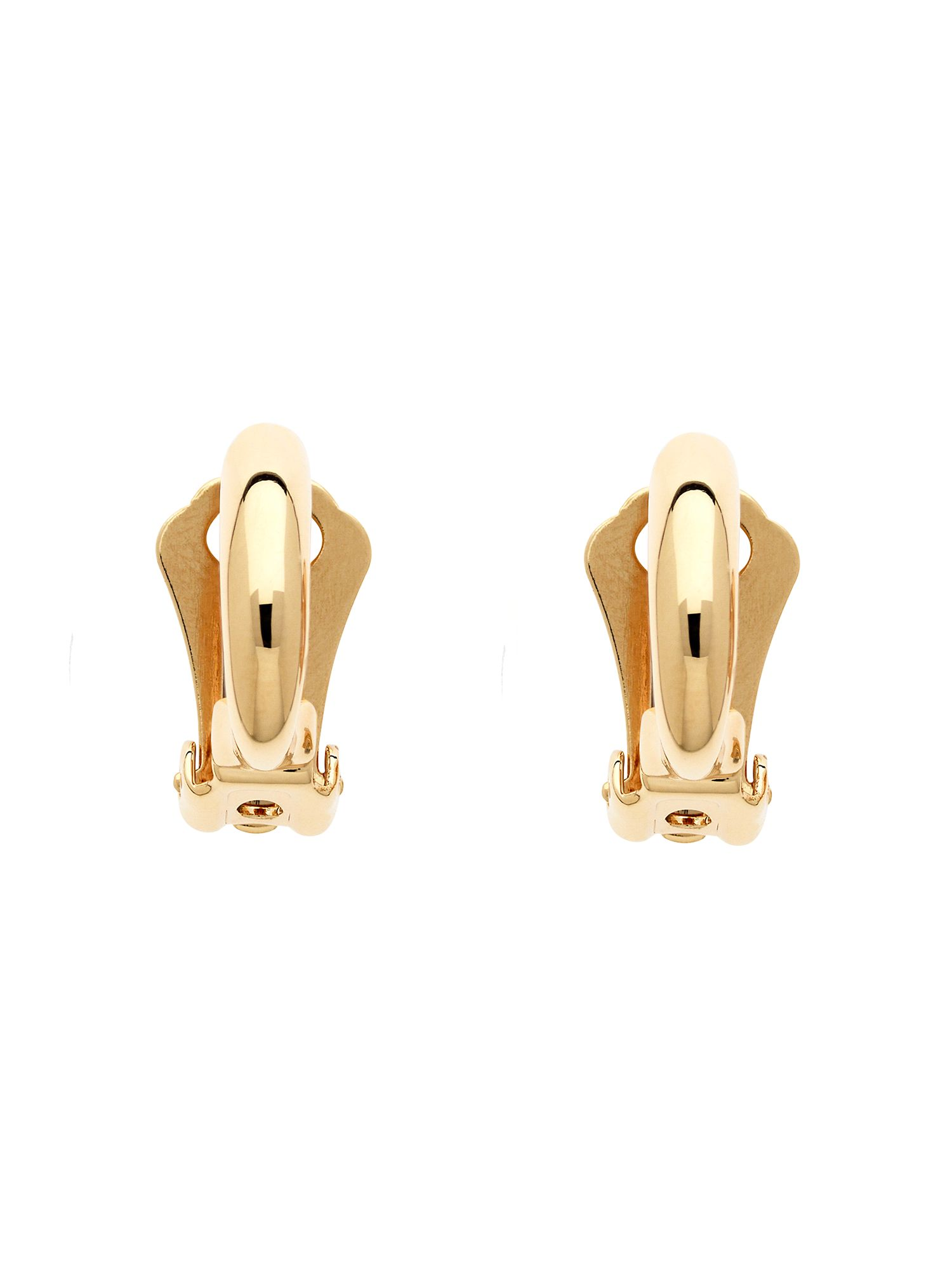 Lilli & Koe Gold mini half hoop clip earrings Gold