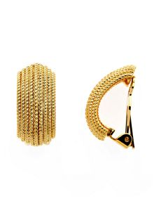 Lilli & Koe Gold bobbled texture clip earrings