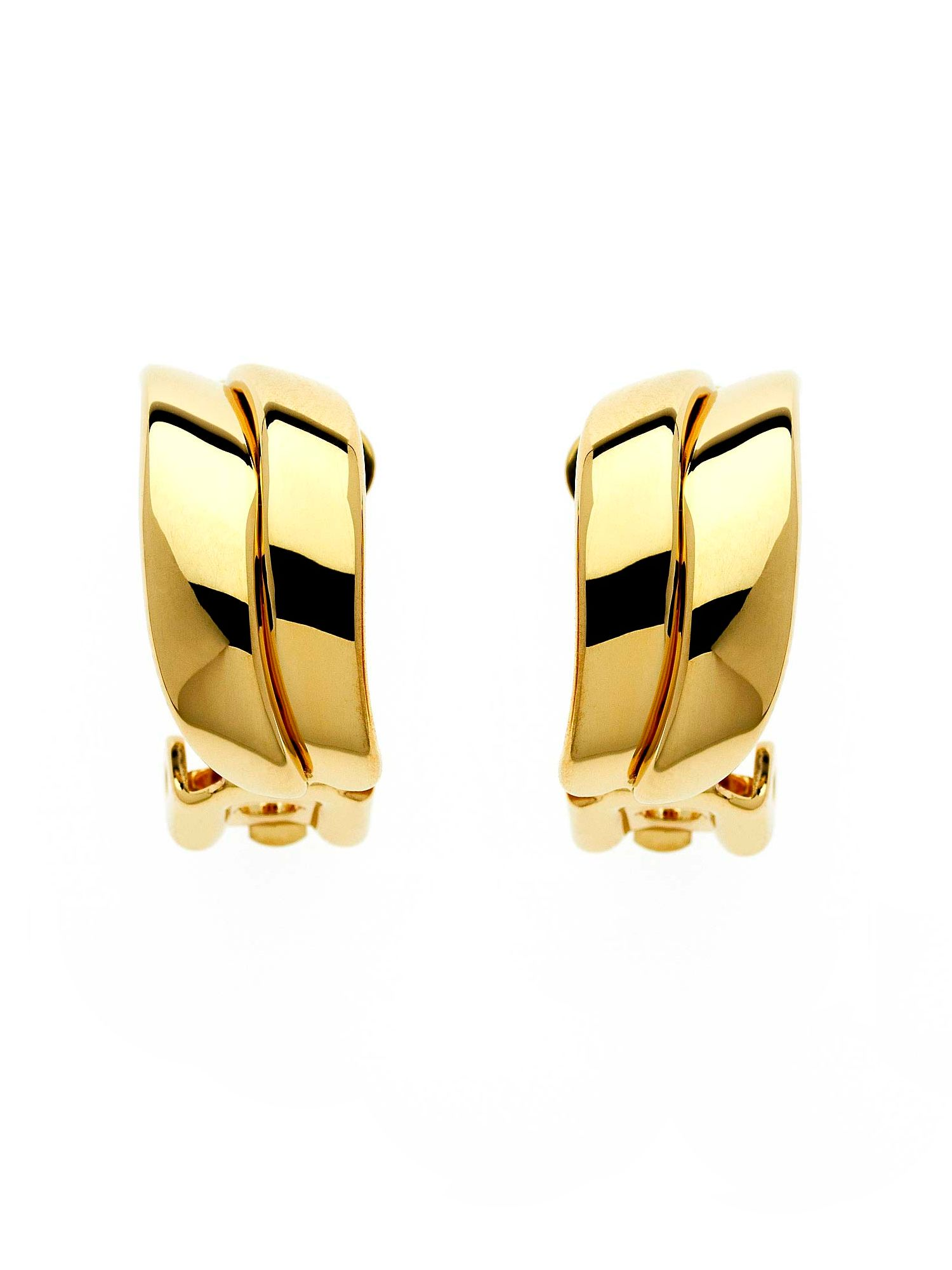 Lilli & Koe Gold double wave clip earrings, Gold