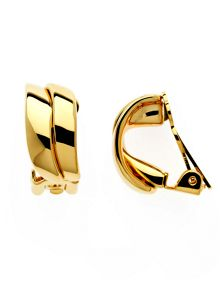 Lilli & Koe Gold double wave clip earrings