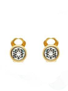 Lilli & Koe Gold crystal stud clip earrings