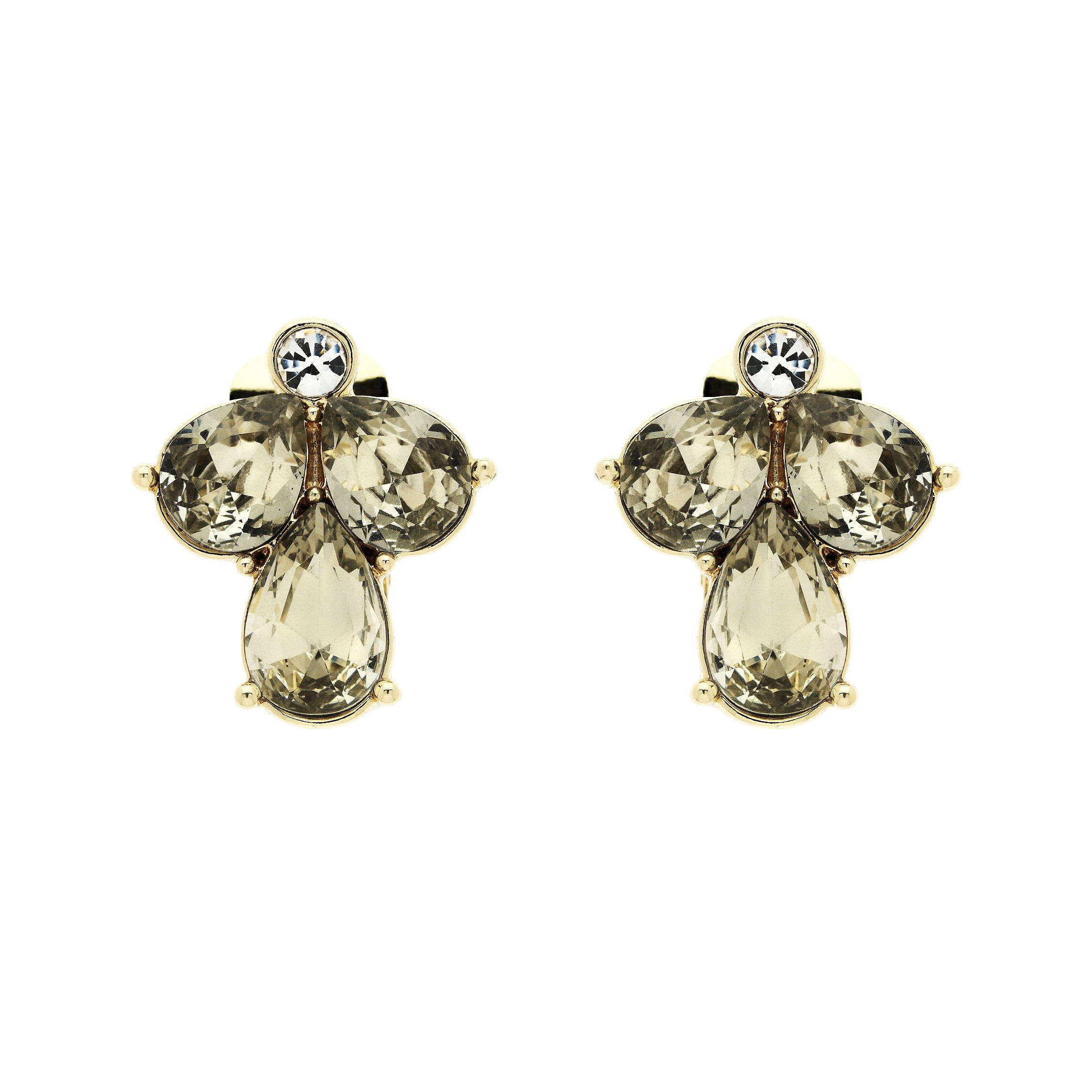 Monet Gold Champagne Drops Clip Earrings, Gold