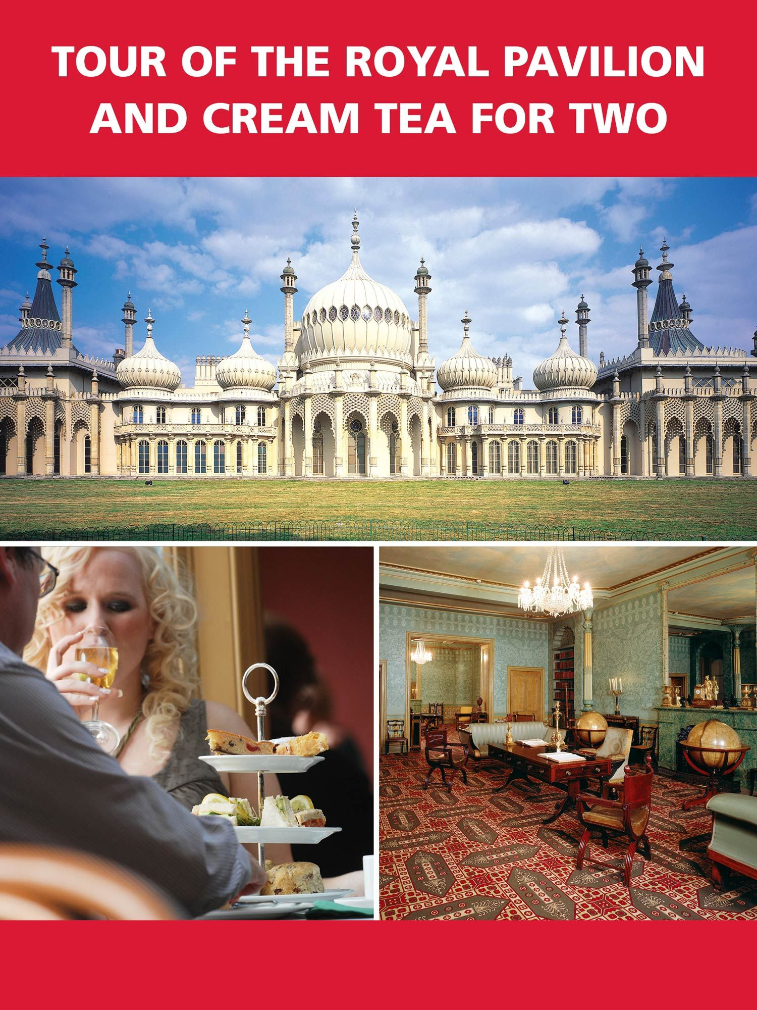 Red Letter Days Brighton Royal Pavilion and Tea for Two