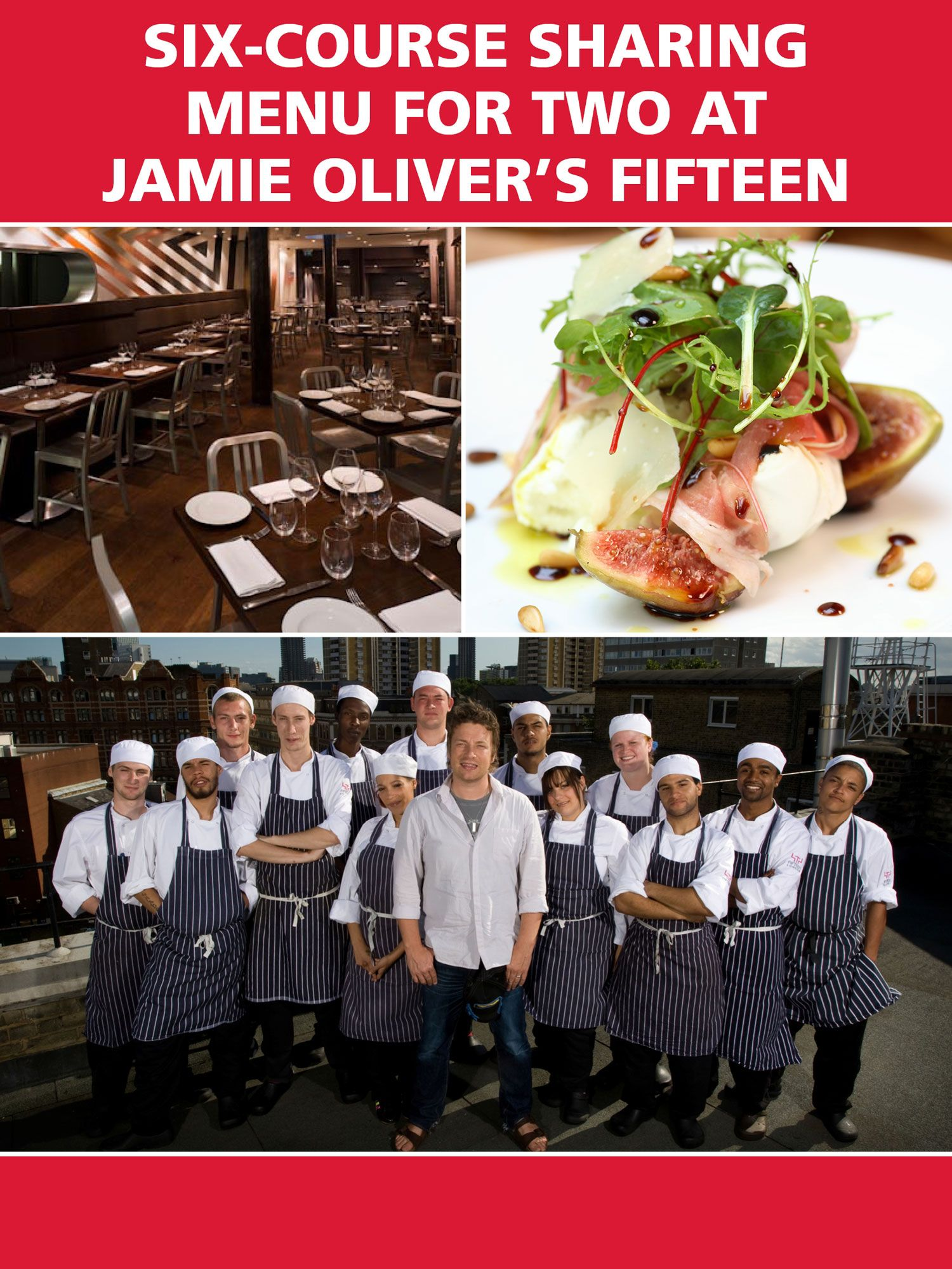 Red Letter Days Six-Course Sharing Menu for Two at Jamie Oliver`s