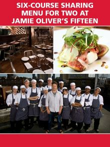 Six-Course Sharing Menu for Two at Jamie Oliver`s