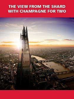 The View from The Shard with Champagne for