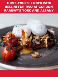 Lunch with Bellini for Two at York and Albany
