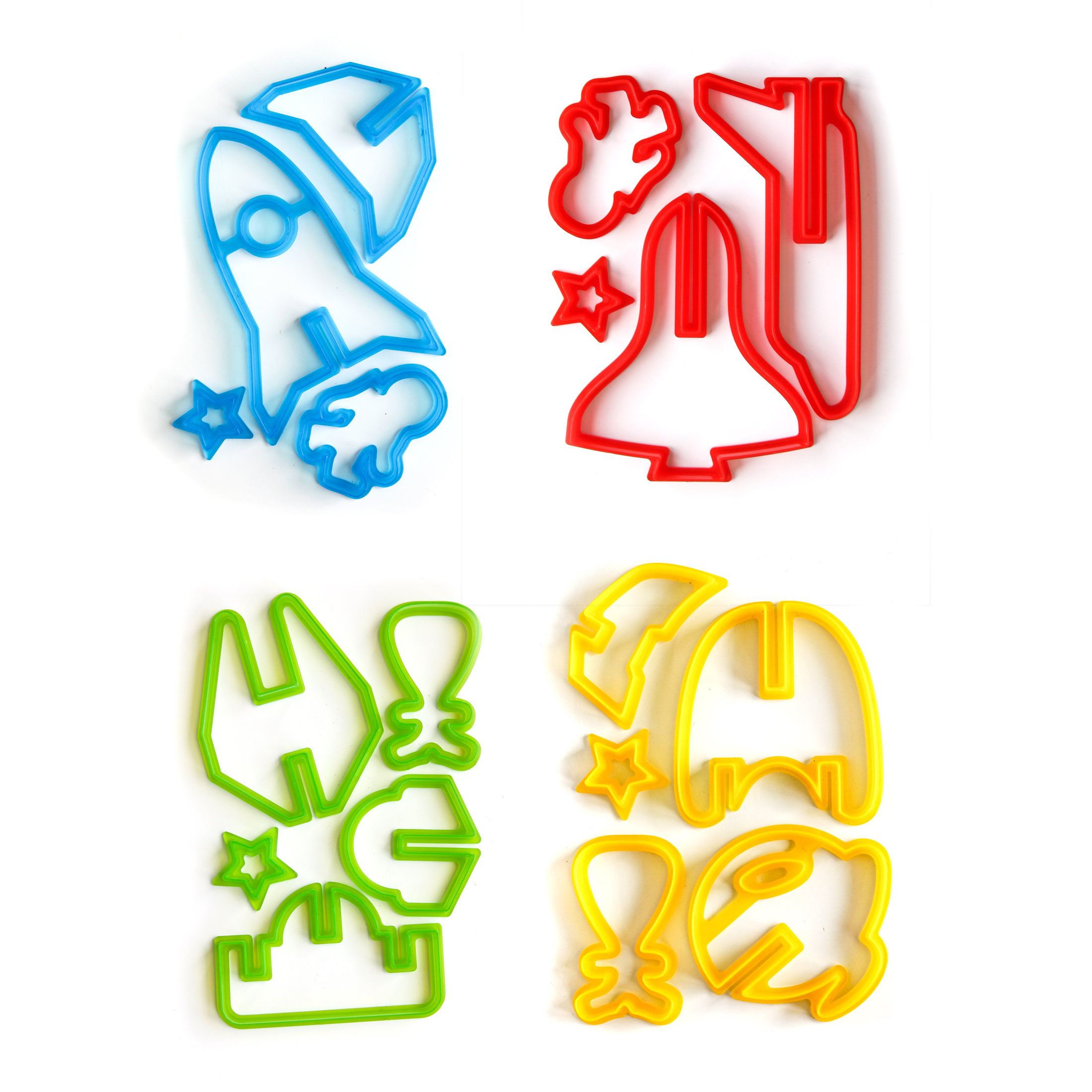 3D cookie space cookie cutters