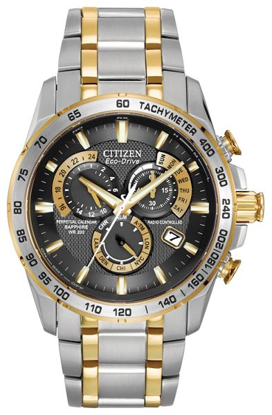 Citizen Eco-drive world time at two tone mens watch