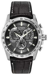 Citizen AT4000-02E mens black strap watch