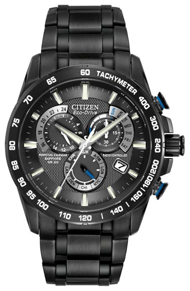 Citizen AT4007-54E mens black bracelet watch