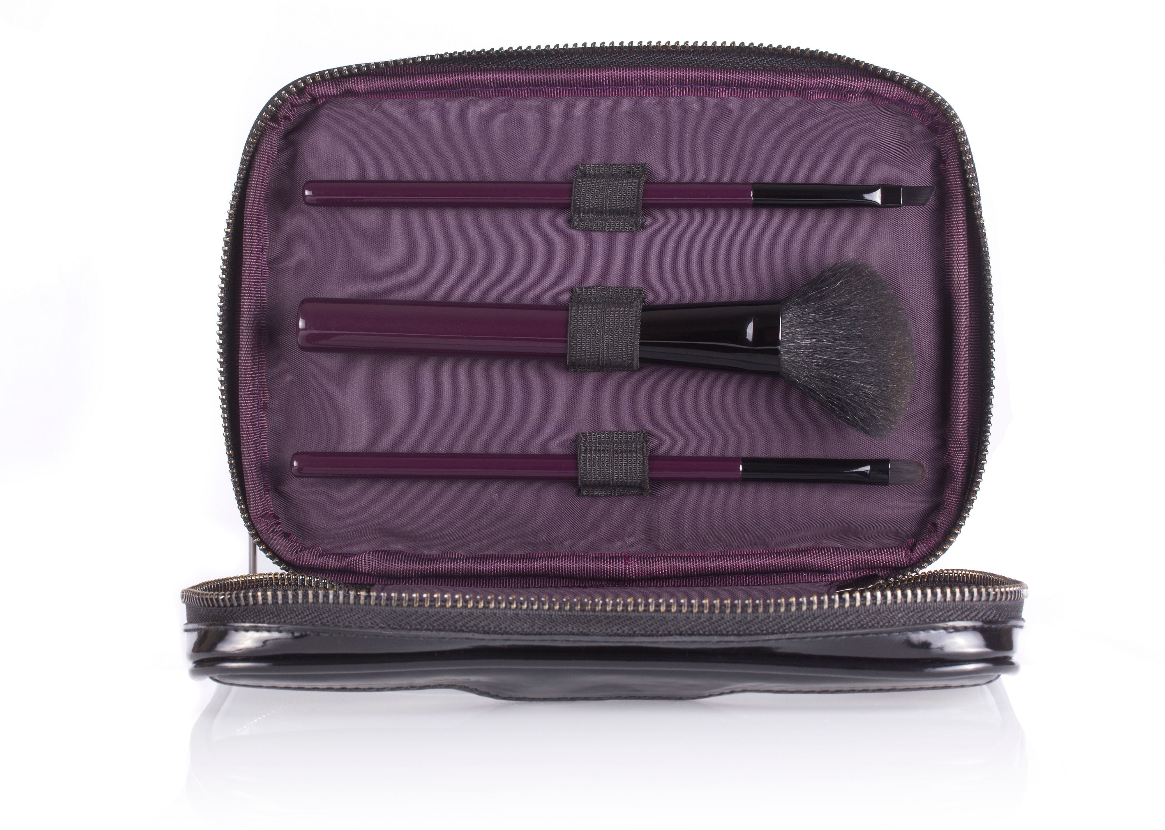 Makeup Bag & Mini Brush Set
