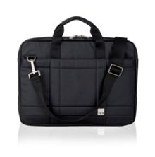 Lincoln black slim briefcase