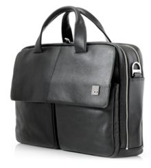 Warwick mens black briefcase