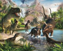 Walltastic Dinosaur Land Wallpaper Mural
