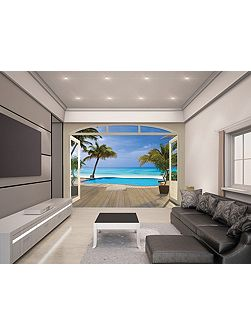 Paradise Beach Wallpaper Mural