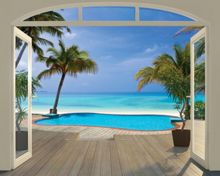 Walltastic Paradise Beach Wallpaper Mural