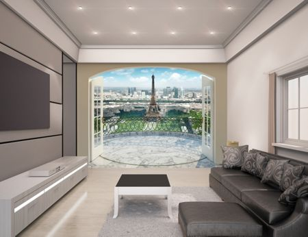 Walltastic Eiffel Tower in Paris Wallpaper Mural